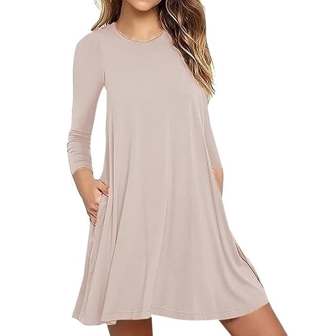 Vestidos tallas grandes,Morwind vestido de playa de mujer vestido casuales mini vestido vestido swing