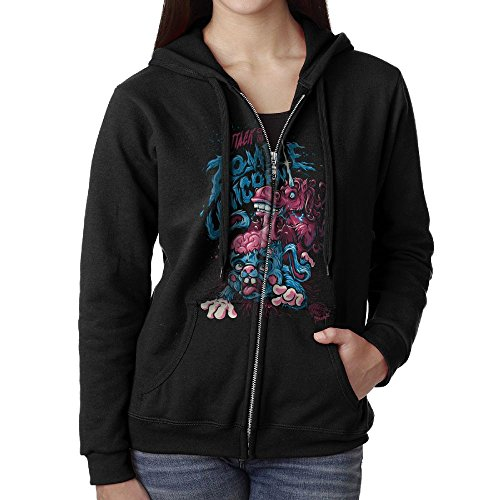 QPMBG Attack Of The Zombie Unicorn Classic Hoodies With Pocket For Woman