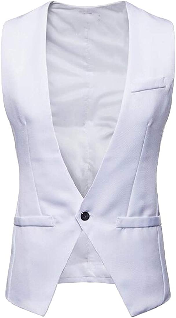 Andopa Mens Premium Formal Skinny Unique Advanced One Button Suit Vest