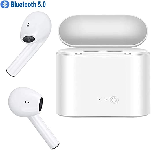 Euorybe Earbuds Bluetooth 5.0 Earbuds TWS Stereo Bluetooth Earphones Mini Waterproof Headfrees with Charging Box