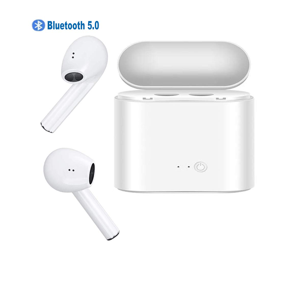 Upgraded Bluetooth 5.0 Bluetooth Headphones HiFi 3D Stereo Sound with Charging Case