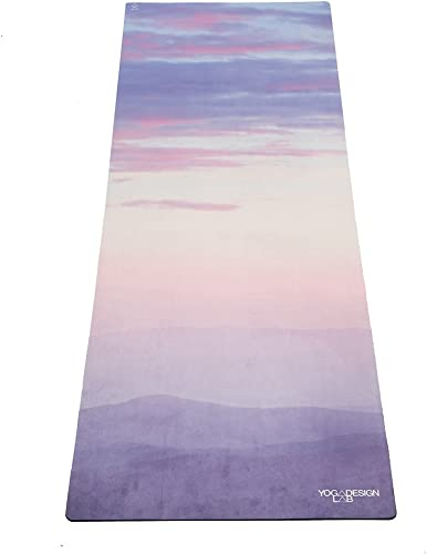YOGA DESIGN LAB The Combo Yoga MAT 2-in-1 Mat Towel Eco Luxury Ideal for Hot Yoga, Power, Bikram, Ashtanga, Sweat Studio Quality Includes Carrying Strap