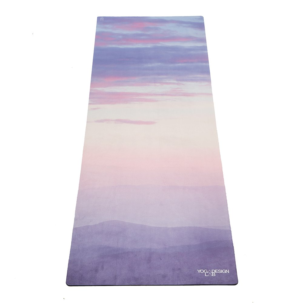 YOGA DESIGN LAB Commuter Yoga Mat 2-in-1 Mat Towel Lightweight, Foldable, Eco Luxury Ideal for Hot Yoga, Bikram, Pilates, Barre, Sweat 1.5mm Thick Includes Carrying Strap