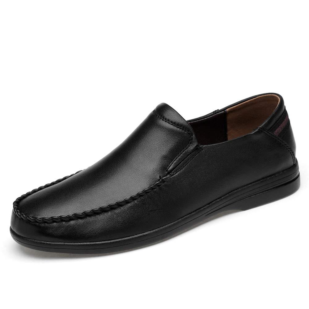 Black Men's Casual Comfortable Lightweight Soft Slip Formal shoes Fashion Oxford