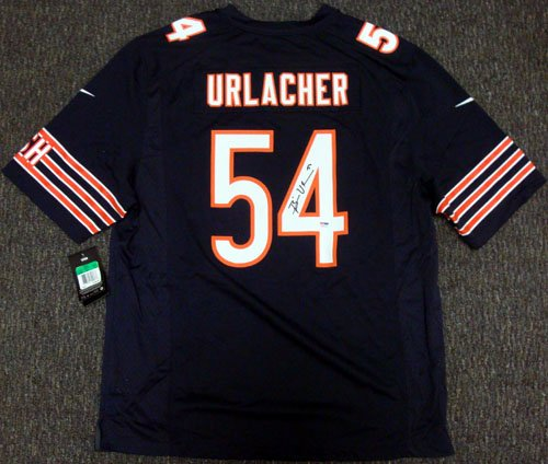 Chicago Bears Brian Urlacher Autographed Blue & White Nike Jersey Size XL PSA/DNA ITP Stock #35415