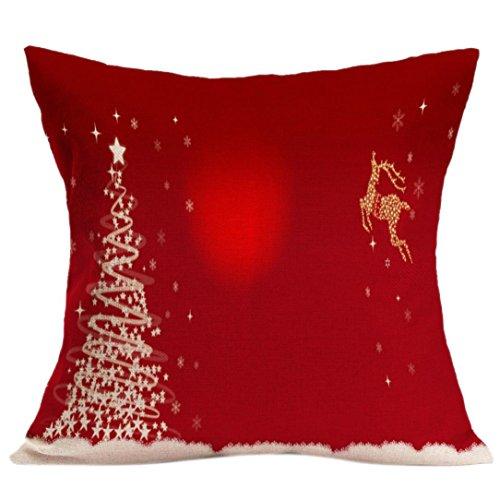 Tuscom Christmas Pillow Case Sofa Waist Throw Cushion Cover Home Decor(45×45cm) (Christmas Throw Pillows Sale)