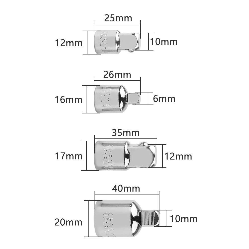 150 mm Portabrocas magn/ético 100 mm IsEasy Adaptador de impacto y conjunto de extensi/ón de reductor con 1//4hexagonal v/ástago 60 mm