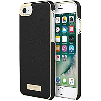 Incipio Apple iPhone 7/8 Kate Spade New York Wrap Case - Saffiano Black/Gold Logo Plate