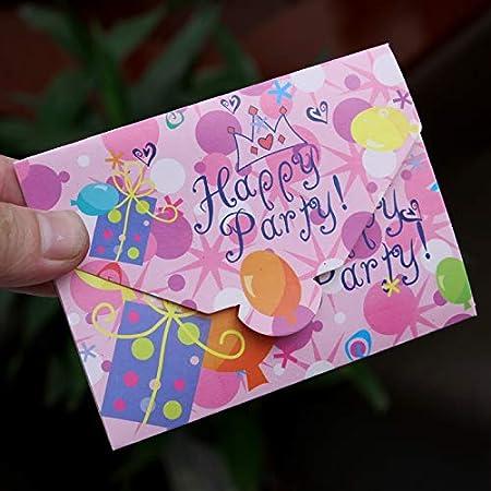 Horrenz 12 Tarjetas De Invitación De Cumpleaños Para Niños