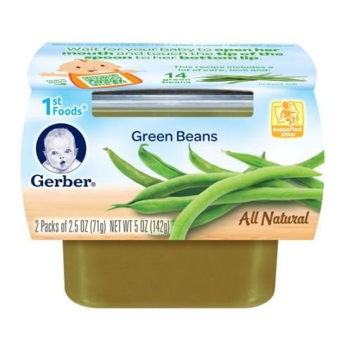 Gerber 1st Foods, Green Beans, 5-Ounce (Pack of 8) (Gerber Baby Food Green Beans compare prices)