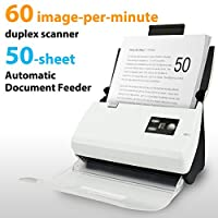 Plustek PS30D Duplex Document Scanner: with 50 Sheet Auto Document Feeder (ADF) and searchable PDF Function by Abbyy OCR. Support Mac and PC
