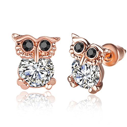 World Book Day 2016 Costumes Adults (Duo La Cute Owl Zircon 18K Gold Plated Stud Earrings)