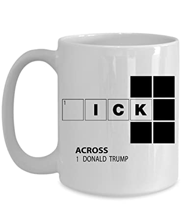 office coffee mugs. Donald Trump Crossword Puzzle Funny Home Office Coffee Mug Cup White (15 Ounce) Mugs