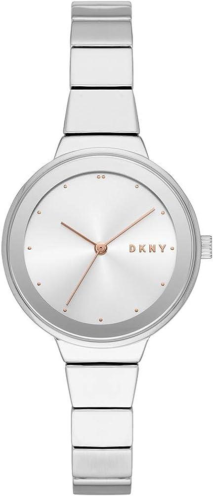 DKNY Reloj Analógico para Mujer de Cuarzo con Correa en Acero Inoxidable NY2694
