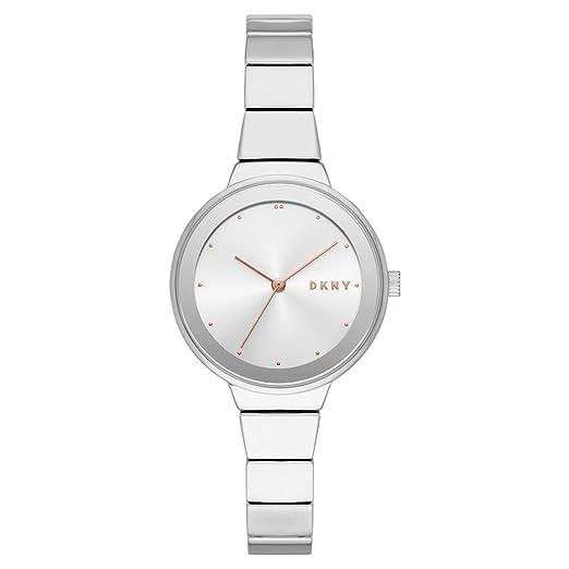e7dfd615169f DKNY Reloj Analógico para Mujer de Cuarzo con Correa en Acero Inoxidable  NY2694  Amazon.es  Relojes