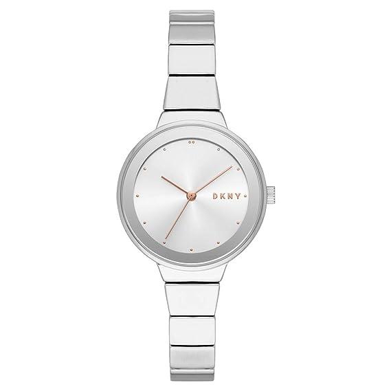 DKNY Reloj Analógico para Mujer de Cuarzo con Correa en Acero Inoxidable NY2694: Amazon.es: Relojes