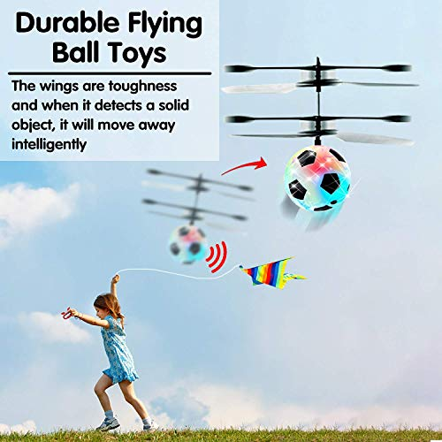 Flying Ball Drone, Kids Flying Toys Boys Girls Light Up Ball Drone RC Infrared Induction Helicopter with Remote Controller UFO Aircraft Toys Games Toys for 1 2 3 4 5 6 7 8 9 10 Year Old Indoor Outdoor by AMENON (Image #4)