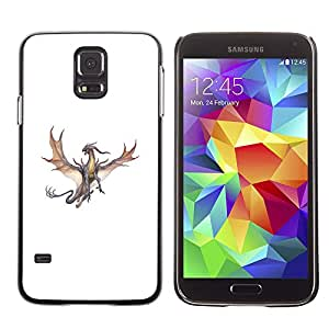 Paccase / SLIM PC / Aliminium Casa Carcasa Funda Case Cover - Dragon Brown Grey Flying Fierce Cartoon - Samsung Galaxy S5 SM-G900