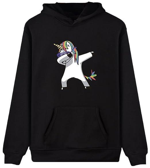5508cfecc Imilan Girls' Pullover Hoodie Unicorn Rainbow Print Sweatshirt Jumper Top  (XS,Dancing Unicorn
