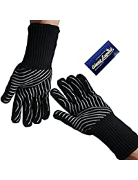 Purchase 1 Pair (2 Gloves) Gloves Legend Oven Gloves Heat Resistant Grill BBQ Barbecue cooking Aramid gloves with Extra-long... save