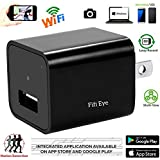 Fifi Spectrum Wifi Wireless P2P 1080P HD Latest Wall Charger Hidden Mini Nanny Spy Camera,Motion Detection Activated, Support IOS iPhone and Android APP, Remote Control ,Live Video.For Home Security