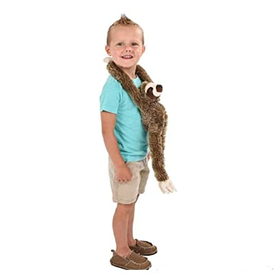 """Adventure Planet Plush Hanging 20"""" Sloth, Hands Connect Together, Hang Up: Toys & Games"""