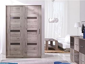 Armoire de chambre moderne Orlando San Remo Porte coulissante 140 cm ...