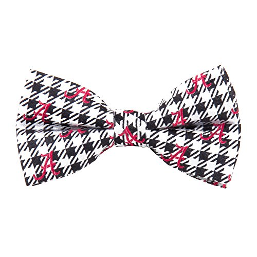 Eagles Wings EAG-2012 Alabama Crimson Tide NCAA Houndstooth Bowtie (Alabama Tide Crimson Tie)