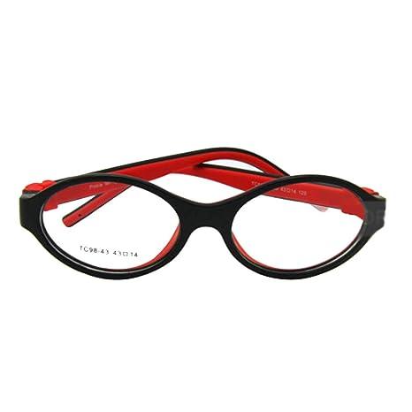 375aa34426 enzodate - montura de gafas para niños,, tamaño 43/14, silicona TR90 ...
