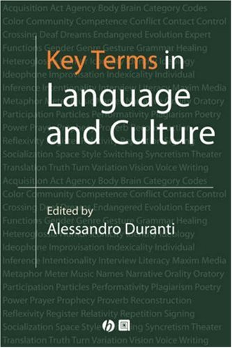 Key Terms in Language and Culture by Brand: Wiley-Blackwell
