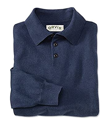 4f701930cb7 Orvis Cotton/Silk/Cashmere Long-sleeved Polo: Amazon.co.uk: Clothing