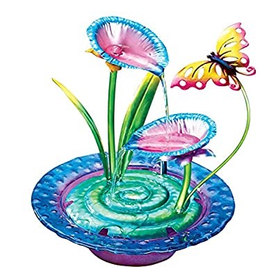 Colorful Butterfly Tabletop Fountain
