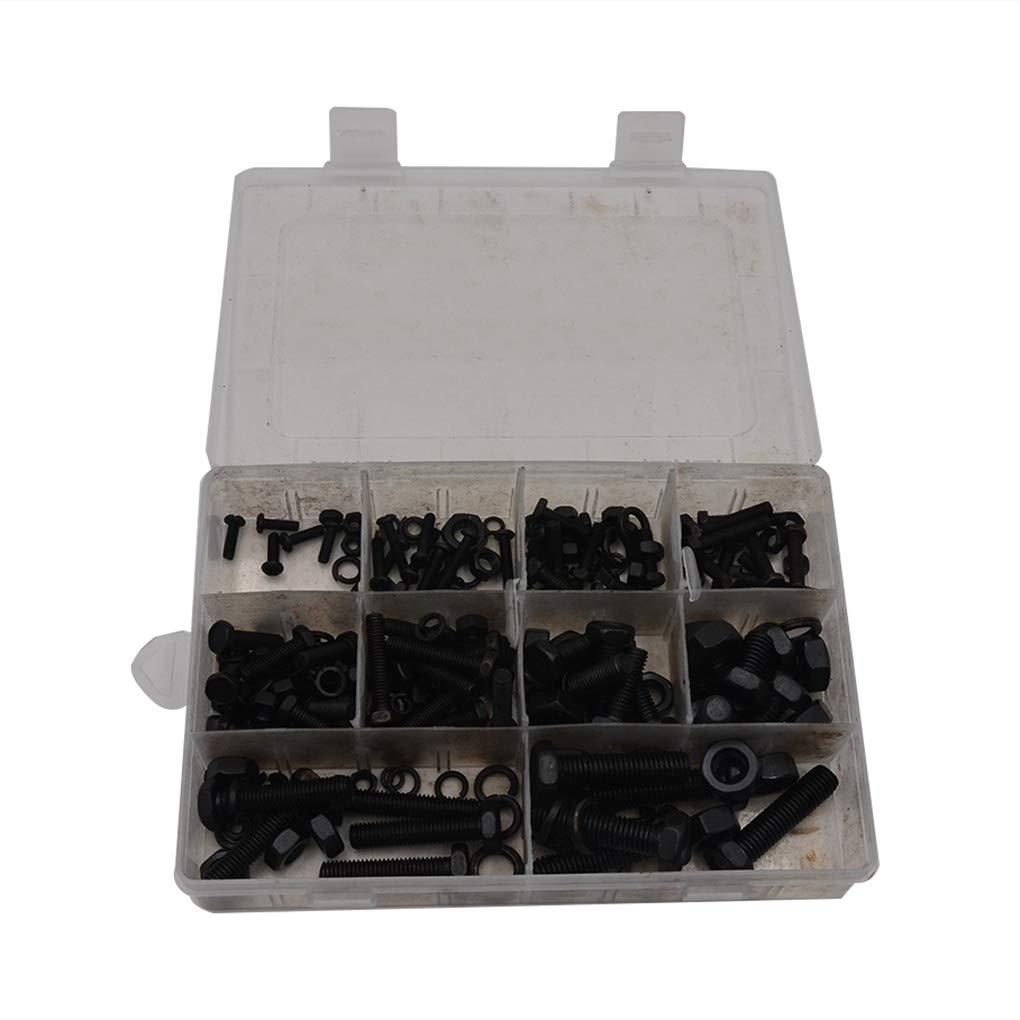 30mm 90 Tralntion 240PCS//Set Hex Head Nut Bolt M4 M5 M6 M8 M10 Kit Tools Washer Assortment Box Hexagon Socket Head Cap Screws,black,230