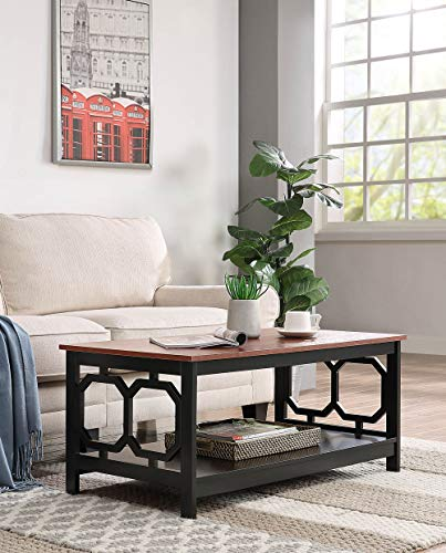 Convenience Concepts 203220CH Omega Coffee Table, Cherry Top/Black Frame ()