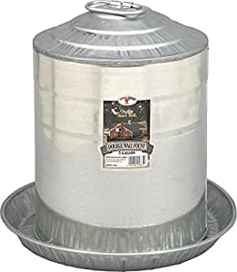 Miller 9835 5-Gallon Galvanized Poultry Fountain
