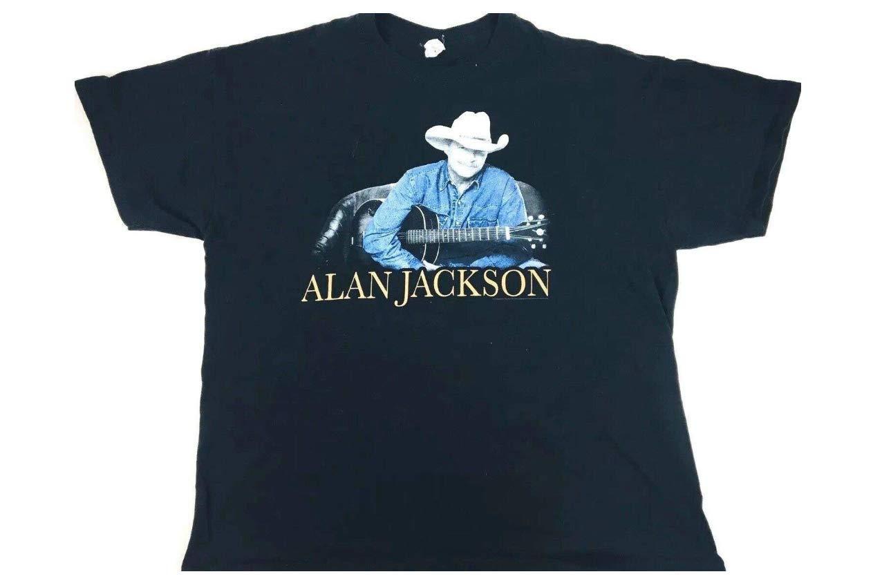 Alan Jackson Shirt 2014 Concert Shirt Band Tee Country Music Shirt Black Tee