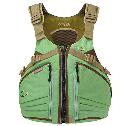 Stohlquist Women's Cruiser Life Jacket/Personal Floatation Device (Sage/Sand, X-Small/Small)