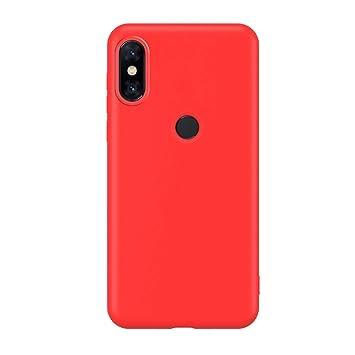 Funda Compatible con Xiaomi Mi A2 Lite, Carcasa de Silicona Líquida Gel Ultra Suave y Forro de Gamuza de Microfibra Cojín con Protector de Pantalla ...