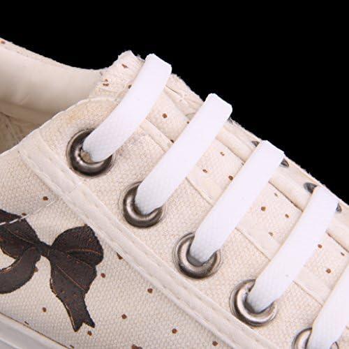 【ノーブランド品】子供用 ノーネクタイ 弾性 シリコーン靴ひも 靴紐 結ばない 防水 簡単 ゴム くつひも (白)