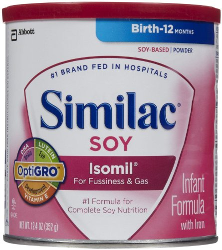 Similac Sensitive Isomil SOY Infant Powder Formula 6/ 12.4 oz Cans