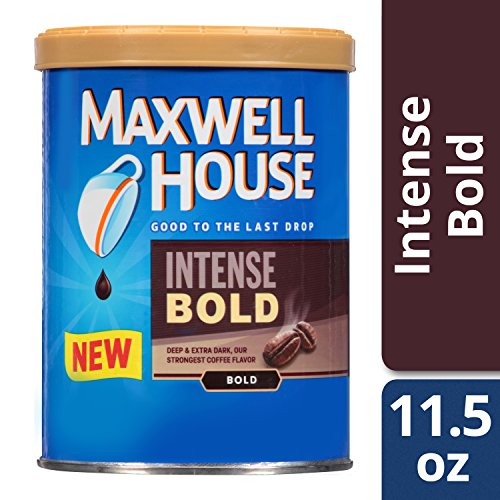 Maxwell House Intense Bold Ground Coffee (11.5 oz Tins, Pack of ()