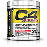 Cellucor C4 Ripped Pre Workout Powder, Explosive Energy & Fat Metabolizing Formula, Fruit Punch, 30 Servings