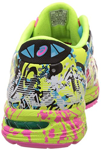 ASICS WomenS Gel-Noosa Tri 11 Hot Pink, Flash Yellow and Black Running Shoes -4 UK/India (37 EU)(6 US)