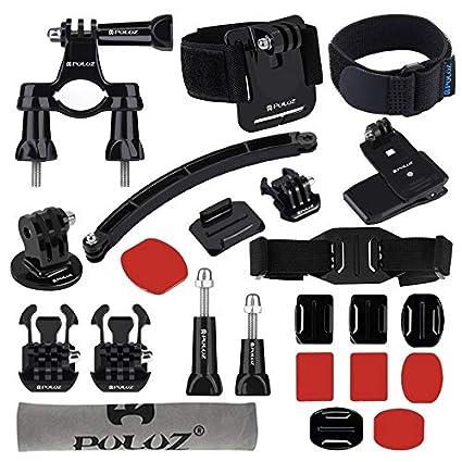 fggfgjg Accesorios PULUZ 24-en-1 para Montaje en Bicicleta Kit Combinado Profesional para
