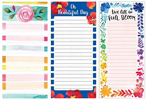 Inkology Watercolor Magnetic Memo Pads, Pack of 12 - Check Off List Party