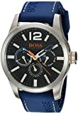 BOSS Orange Men's Quartz Stainless Steel and Leather Casual Watch - Color:Blue (Model: 1513250)