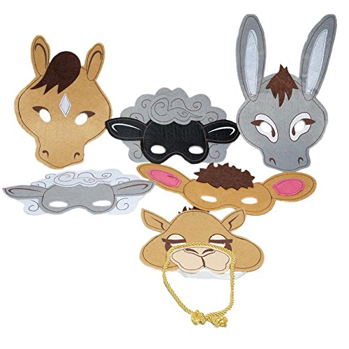 Felt Nativity Animal Masks (Nativity Animal Costumes)