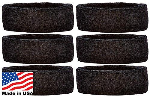 Unique Sports Headbands Team Pack of 6 (Black)