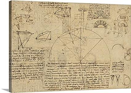 Amazon.com: Leonardo da Vinci Premium Thick-Wrap Canvas Wall Art ...