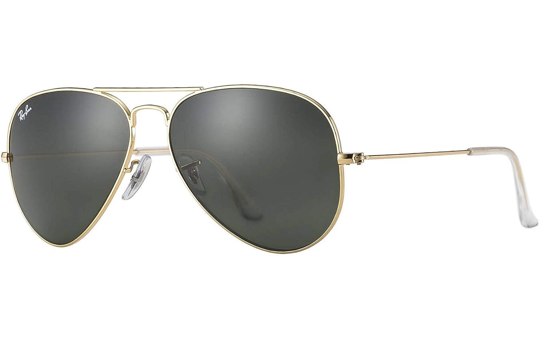 03ebae1394 Amazon.com  Ray Ban RB3025 L0205 58 Gold Gray Green Large Aviator  Sunglasses Bundle-2 Items  Shoes
